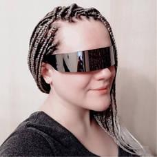 Футуристические солнцезащитные очки для мужчин и женщин, черные, фото 3