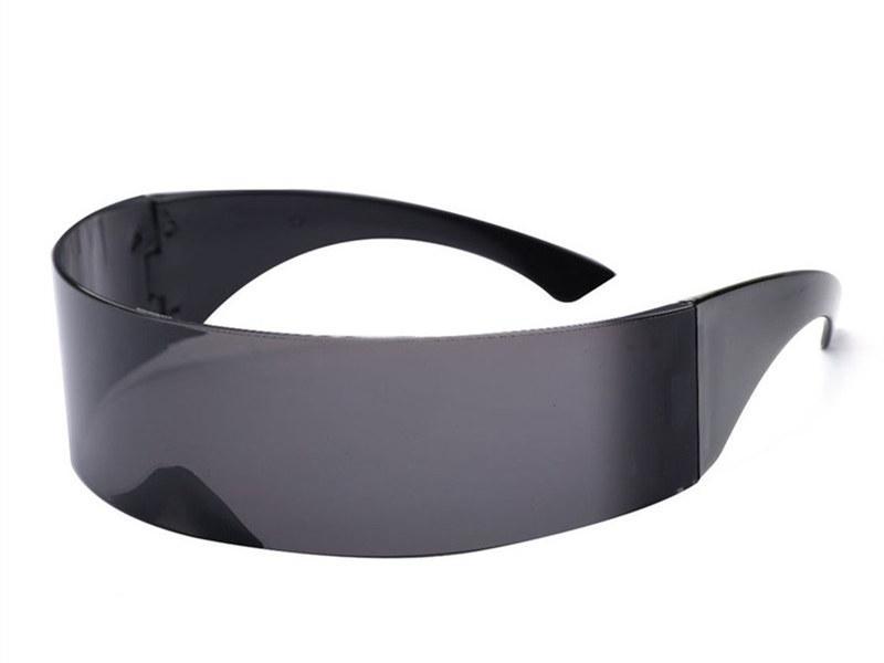 Футуристические солнцезащитные очки для мужчин и женщин, черные
