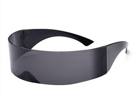 Футуристические солнцезащитные очки для мужчин и женщин, черные, фото 2