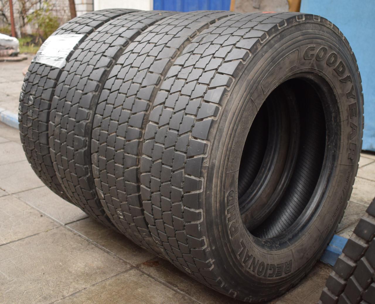 Грузовые шины б/у 215/75 R17.5 Goodyear, ТЯГА, 2016 г., комплект