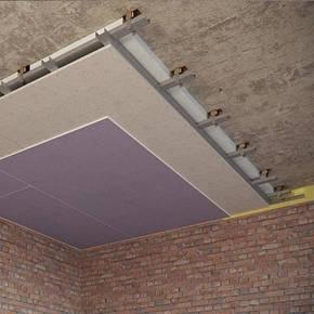 Каркасный звукоизоляционный потолок на виброподвесах (115 мм), фото 2