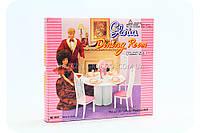 Детская игрушечная мебель Глория Gloria для кукол Барби Столовая 94011. Обустройте кукольный домик