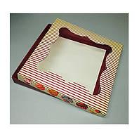 Упаковка из картона для пряников 200*200*30 (принт кексик)