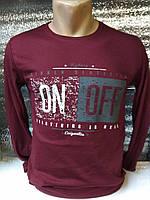 Мужская футболка с длинным рукавом ON OFF Турция р. M, L, XL, XXL.