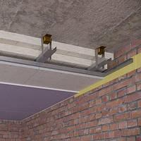 Каркасный звукоизоляционный потолок на виброподвесах(130 мм)