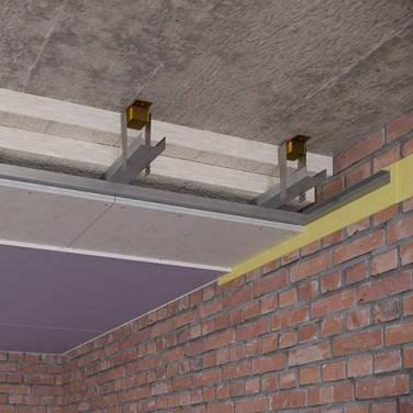 Каркасный звукоизоляционный потолок на виброподвесах(130 мм), фото 2