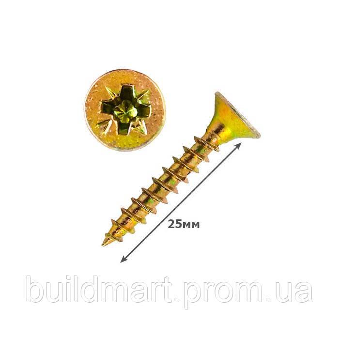 Шуруп универсальный желтый 4х25 (1000шт.)