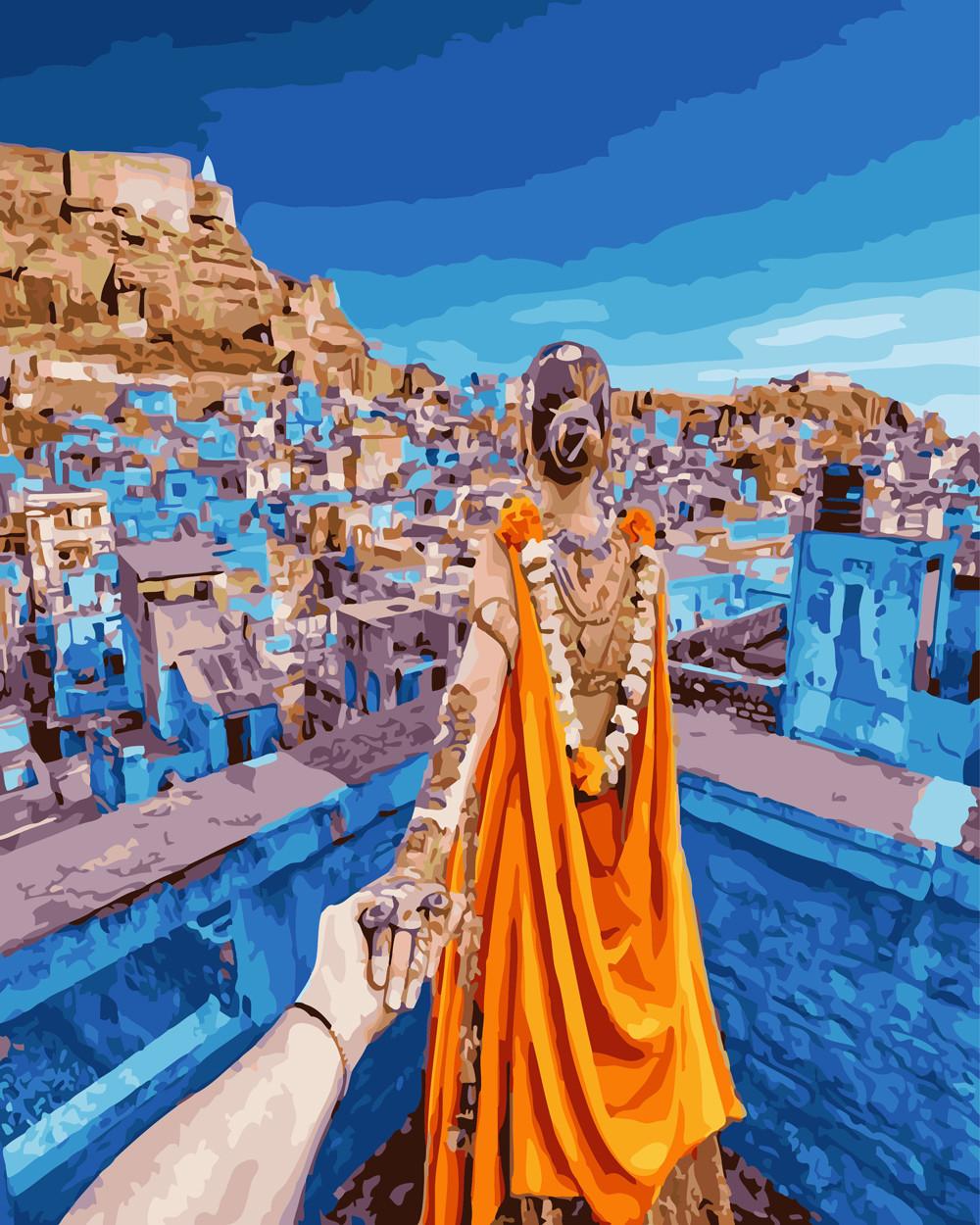 """Картина по номерам """"Следуй за мной.Тунис"""""""