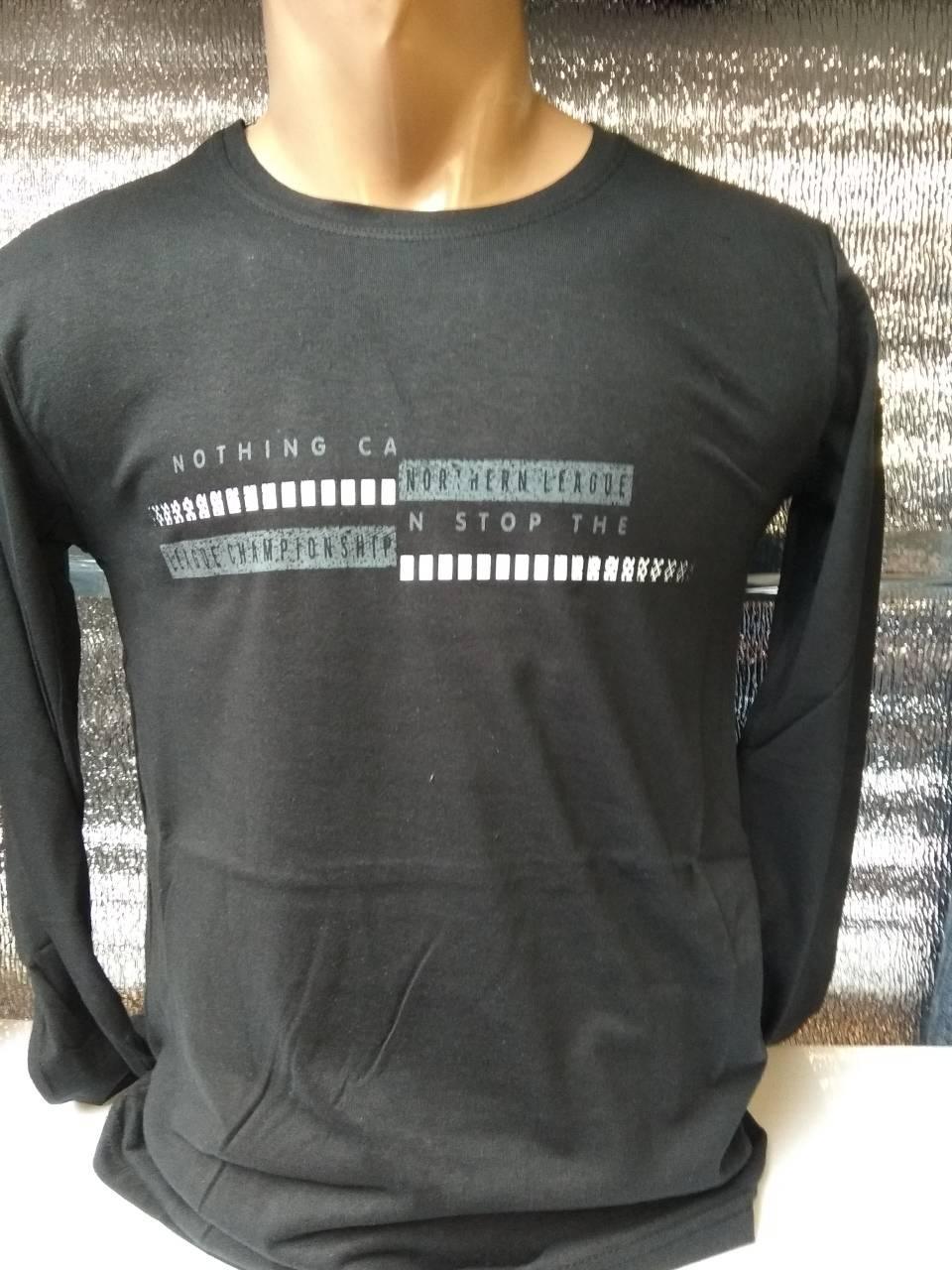 Мужская футболка с длинным рукавом Nothing will stop me Турция р. M, L, XL, XXL.