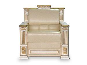 Кресло Орфей нераскладное Мебус (кожа, белое дерево)