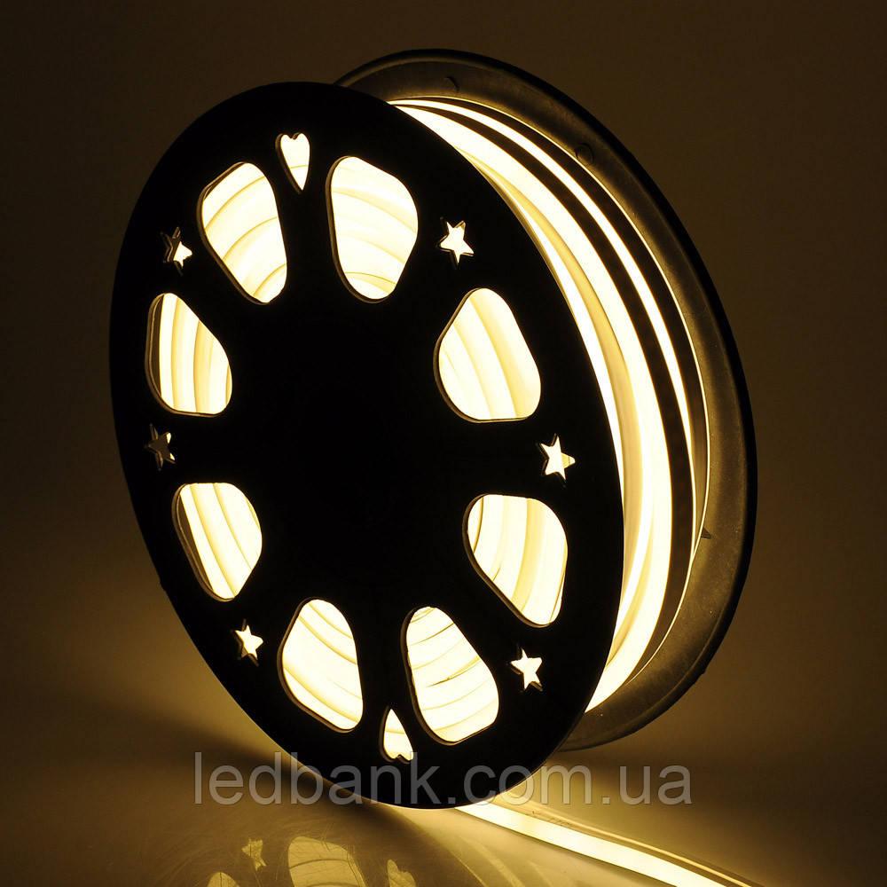 Светодиодный гибкий неон 220В 2835 120 LED Neon Flex IP65 Теплый белый