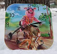 Настенный часы интерьерные Год свиньи