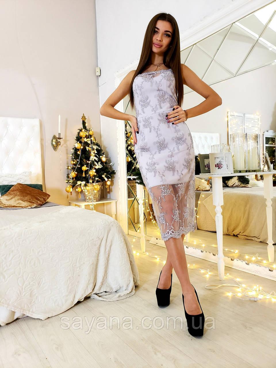 15d2f7f817ff93f Женское нарядное платье из кружева на сетке в расцветках. Ю-6-1218, цена  610 грн., купить в Харькове — Prom.ua (ID#843094705)