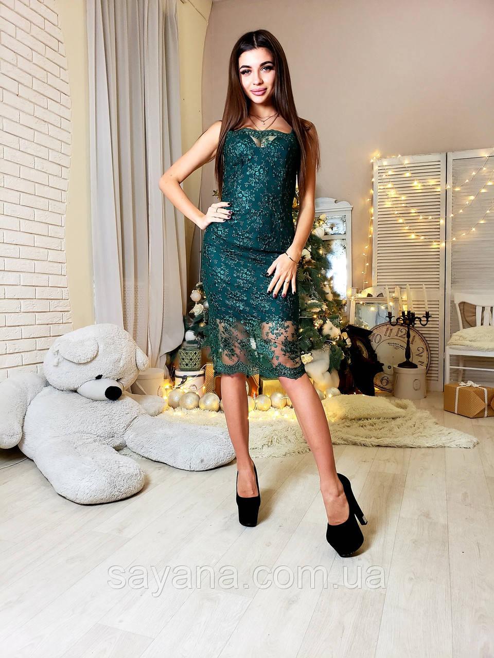 74ed2d8a26c92a0 Женское нарядное платье из кружева на сетке в расцветках. Ю-6-1218 ...