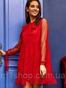 Женское платье из сетки на трикотажной подкладке (Пармаkr)