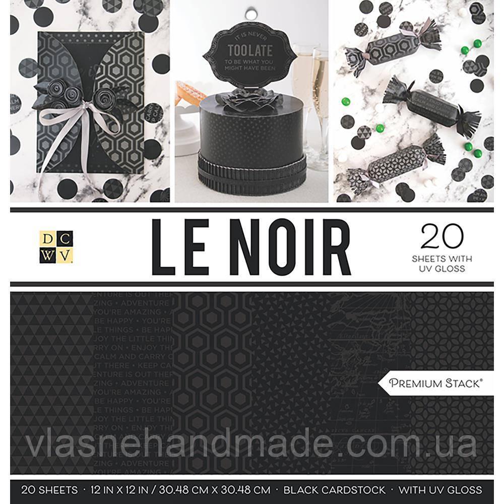 Набір паперу з глянцевим ефектом - Le Noir - DCWV - 30x30 Ціна за пів набору (10 л.)!!!