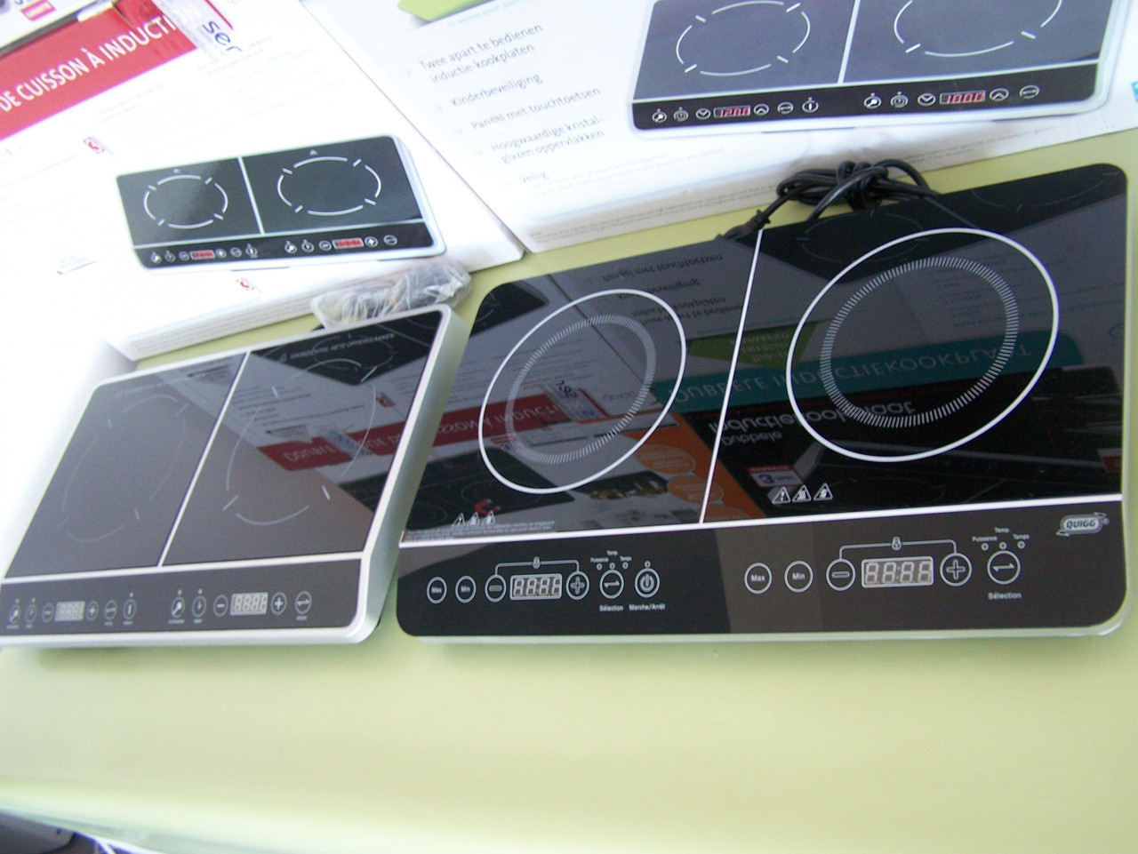 Плита індукційна подвійна QUIGG 3500W