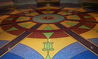 Терраццо - мозаичные полированные полы, художественная мозаика