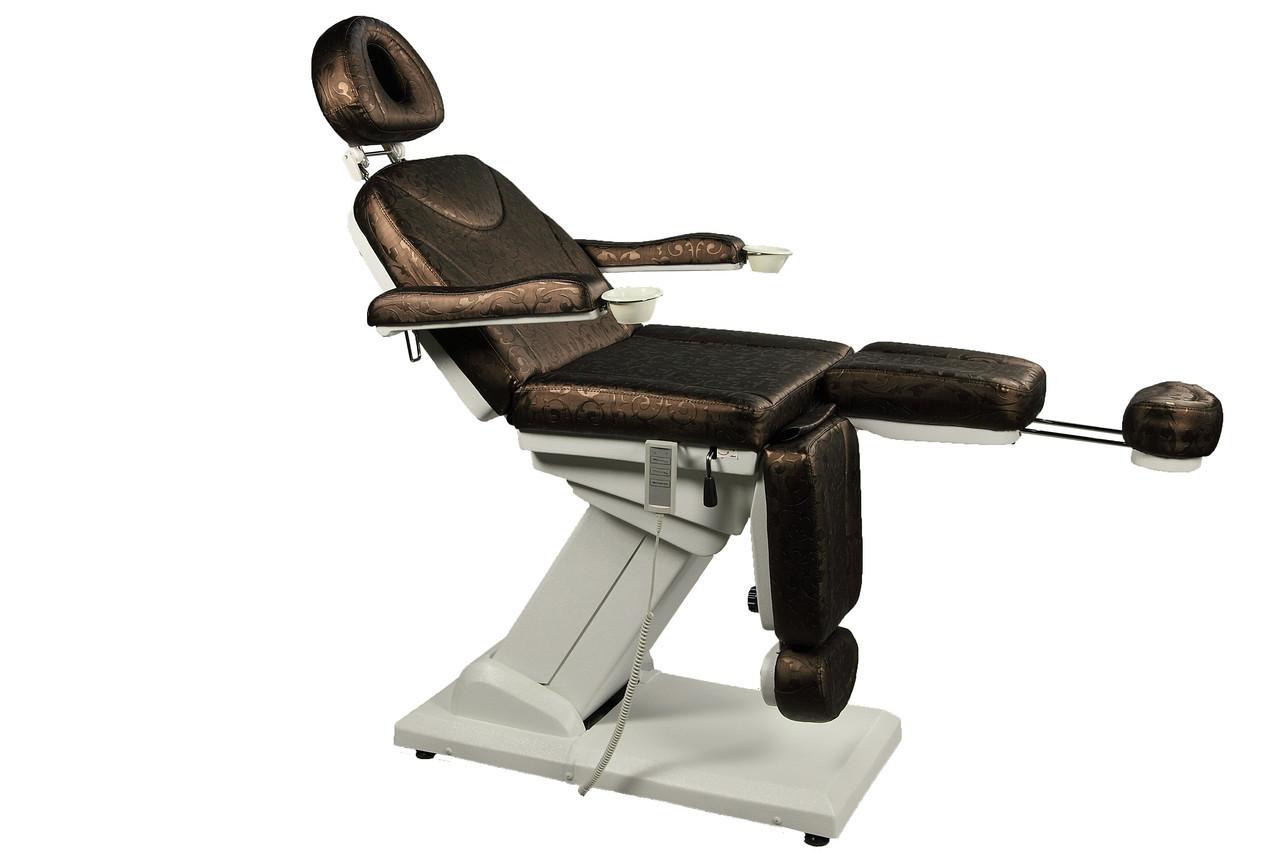 Кресло-кушетка для педикюра электрическое с раздвижной подножкой  ZD-848-3А (3-эл.мотора) Универсал