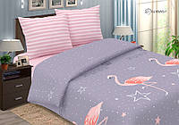 Постельное белье поплин Фламинго