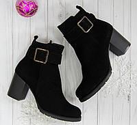 Ботинки зимние  на каблуке Bogun серые, фото 1