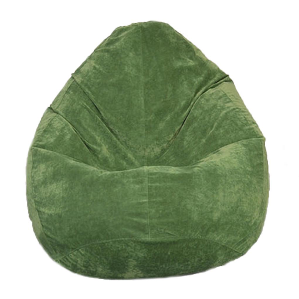 Бескаркасное кресло мешок Флок PufOn, L, Зеленый бутылка, Зеленый бутылка