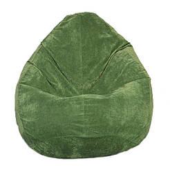Безкаркасне крісло мішок Флок PufOn, L, Зелений пляшка, Зелений пляшка