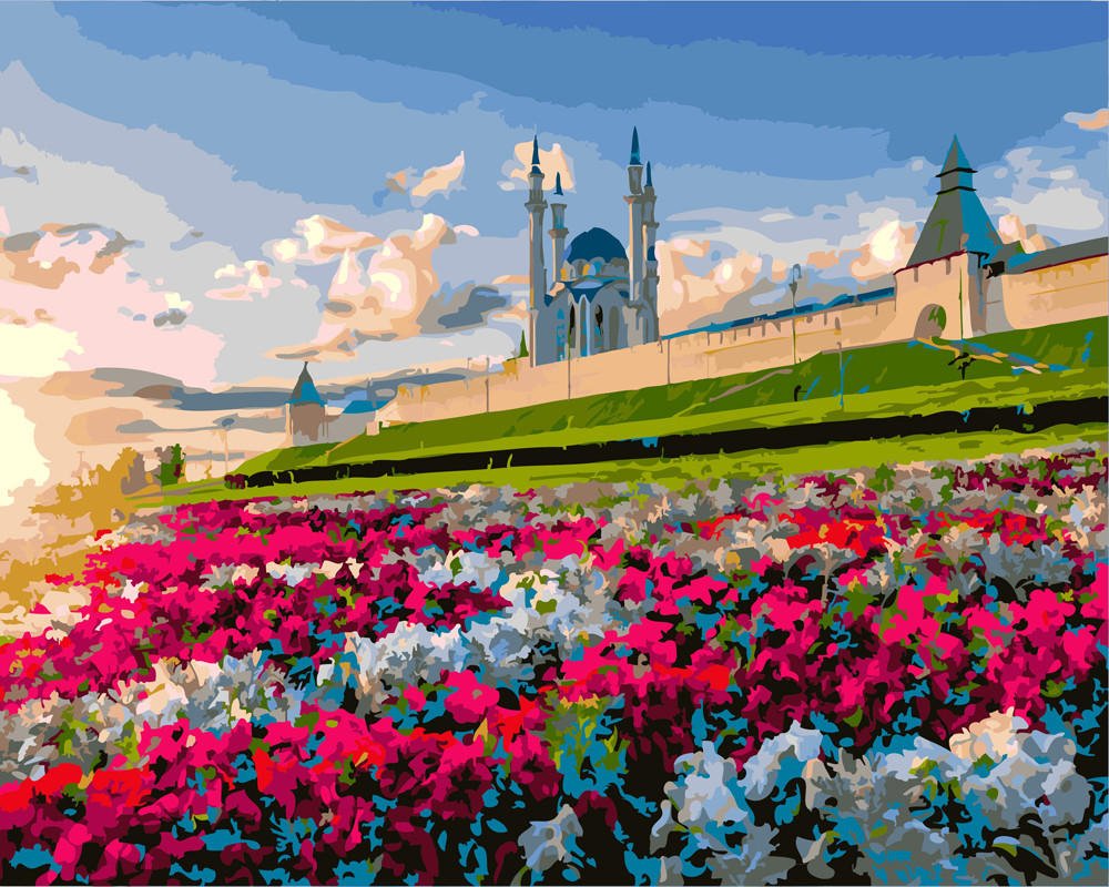 "Картина по номерам ""Восход над мечетью"""
