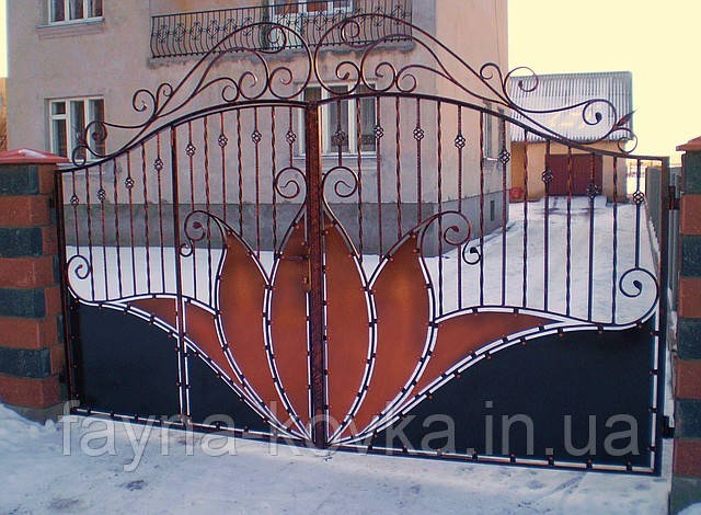 Кованные ворота 176