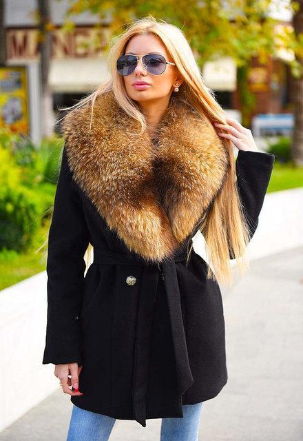 Тёплое женское короткое пальто на силиконе 8082-1
