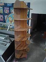 Торговые стеллажи из дерева б у, стеллаж из дерева б/у, деревяные стеллажи б у, деревяный торговый стеллаж б/у