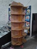 Торговые стеллажи из дерева б у, стеллаж из дерева б/у, деревяные стеллажи б у, деревяный торговый стеллаж б/у, фото 4
