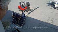 Монтаж уличного фонаря с солнечными батареями