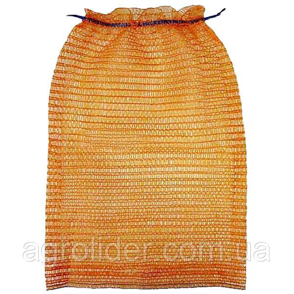 Сетка-мешок овощная 50х80 (до 40 кг) Оранжевая