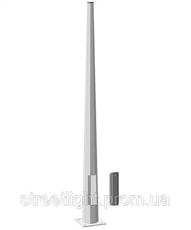 Оцинкованная металлическая опора высотою 12 метров диаметром 190*65 мм с толщиною стенки 4 мм, фото 2