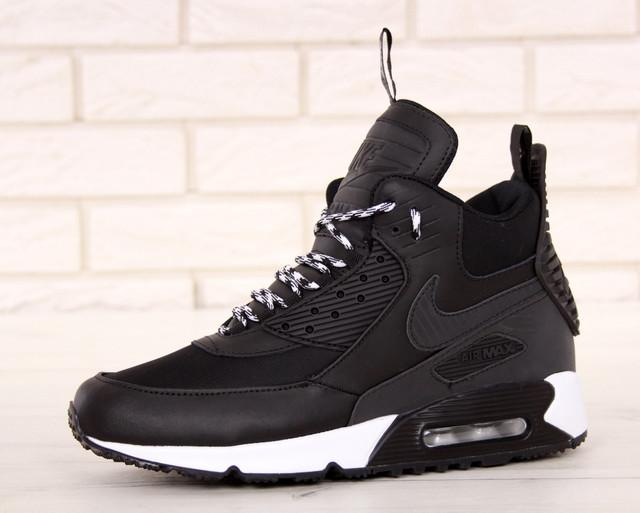 0e417dad Кроссовки мужские высокие черные теплые Найк Air Max 90 Sneakerboot Winter Найк  Аир Макс. Кроссовки Nike ...