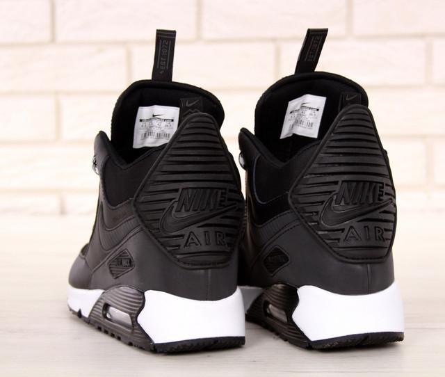 2a6908f2 Кроссовки Мужские Высокие Черные Теплые Найк Air Max 90 Sneakerboot ...