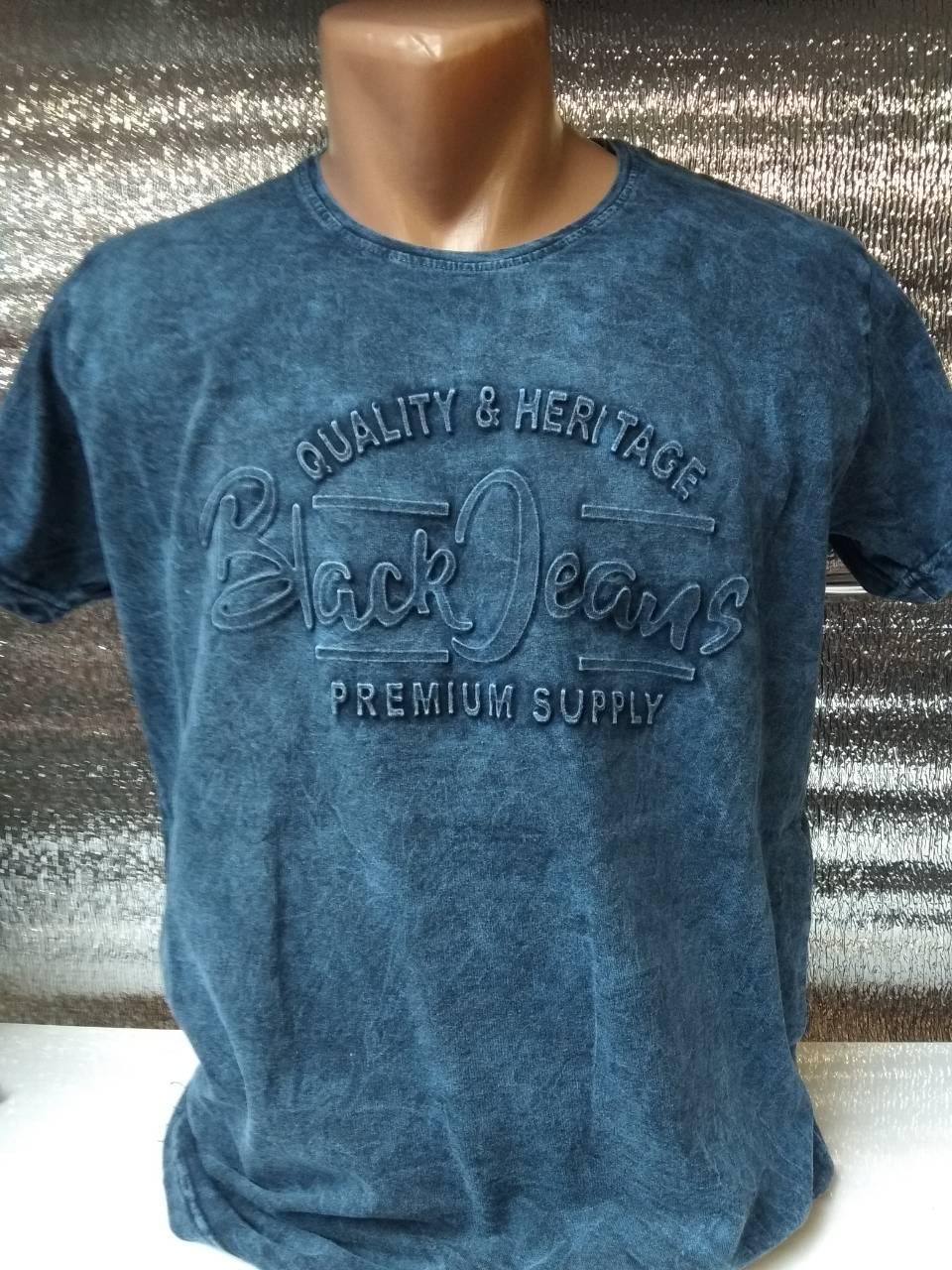 Мужская футболка Black Jeans Premium  Турция р. M, L, XL, XXL.