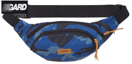 Сумка на пояс WAIST BAG  blue triangle print