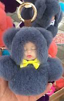 Меховая кукла брелок на сумку