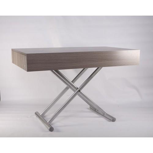 Стол-трансформер Палермо -1 B2391-1 Exm,  столешница серая/цвет ножек серебрянный
