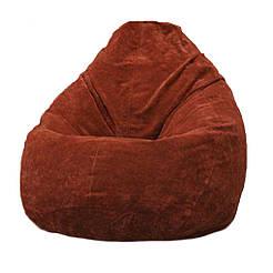 Безкаркасне крісло мішок Флок PufOn, L, Теракотовий, Теракотовий