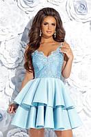Вечернее платье с воланами