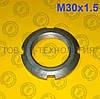 Гайка круглая шлицевая по ГОСТ 11871-88, DIN 981. М30х1.5