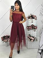 Женское платье с фатином опт розница 7 км