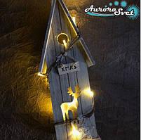 LED гирлянда Домик в лесу 12 светодиодов. Светодиодная гирлянда. Гирлянда LED. Производство Франция.