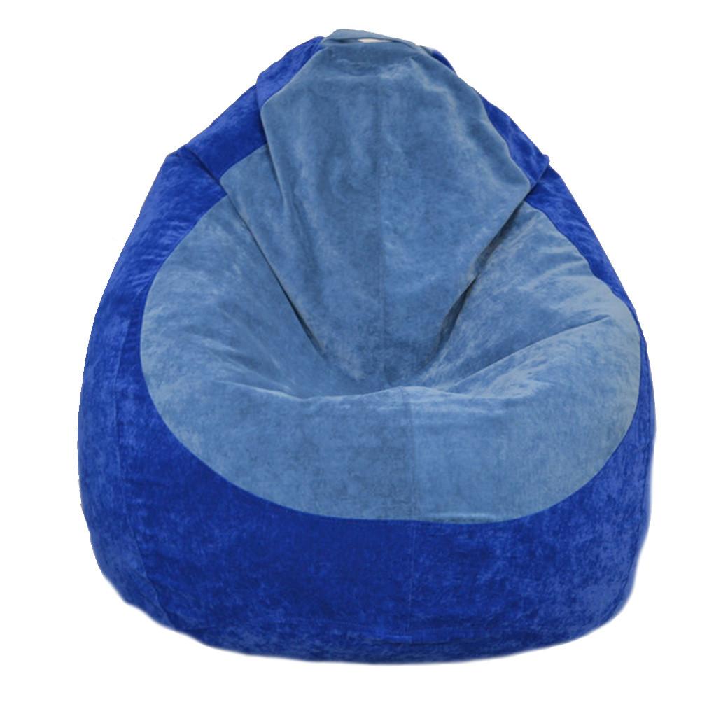 Бескаркасное кресло мешок Флок PufOn, L, Синий, Голубой