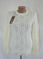 """Нарядный женский свитер """"Татьяна"""" - белый, фото 1"""