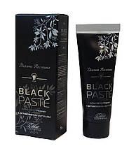Зубная паста Черная Black PASTE с активированным углем 75 мл Эликсир
