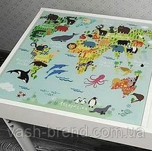 Съемное игровое поле для столика-песочницы KIDZ ZONE Карта мира.